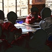 Children in a South African primary school