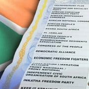 South Africa elections 2014 - voting form