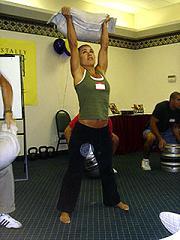 Sandbag Training Girl