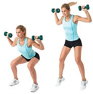 Woman Jump Squats