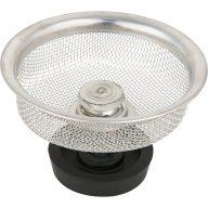 Mesh basket strainer - With plug