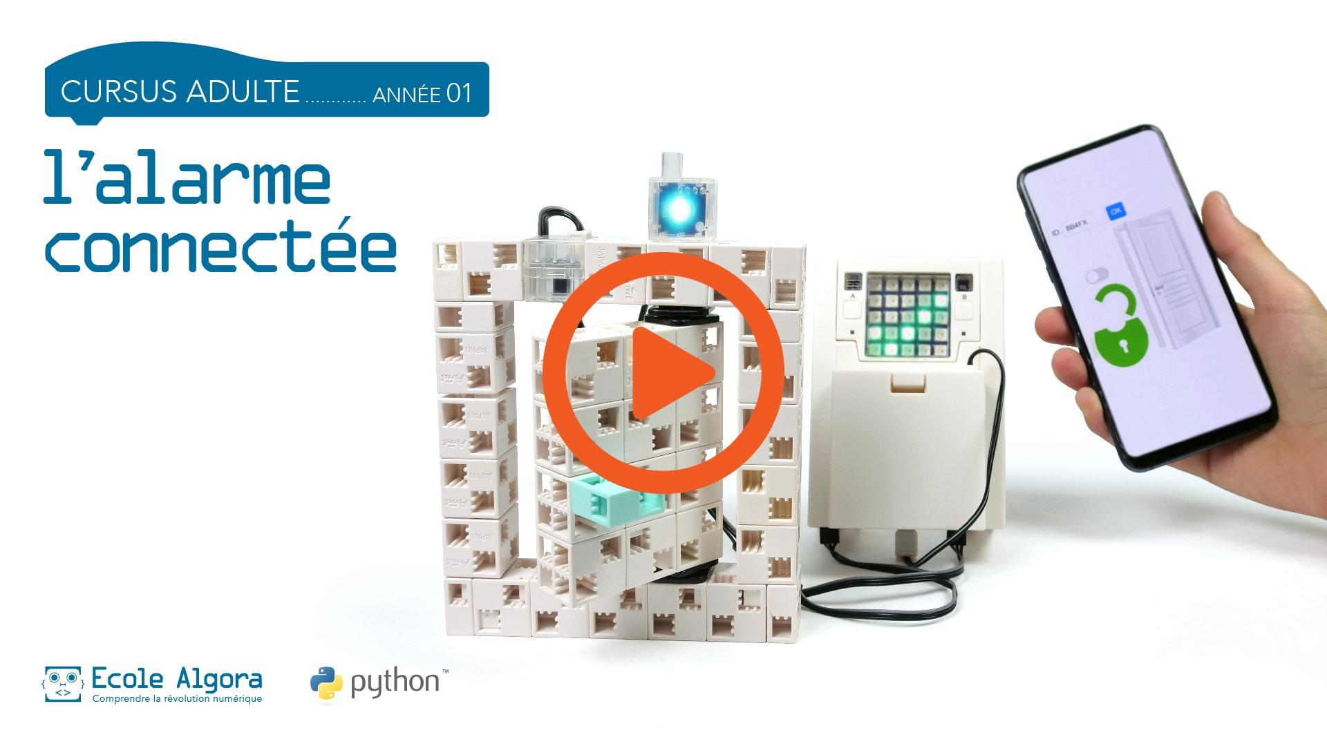vidéo de présentation du robot du cours de programmation pour adulte 9, l'alarme connectée