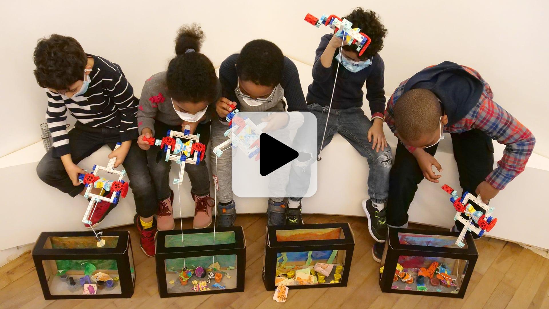 vidéo du test du stage vacances enfant l'Aquarium Magique dans l'école pilote du Vieux-Lille