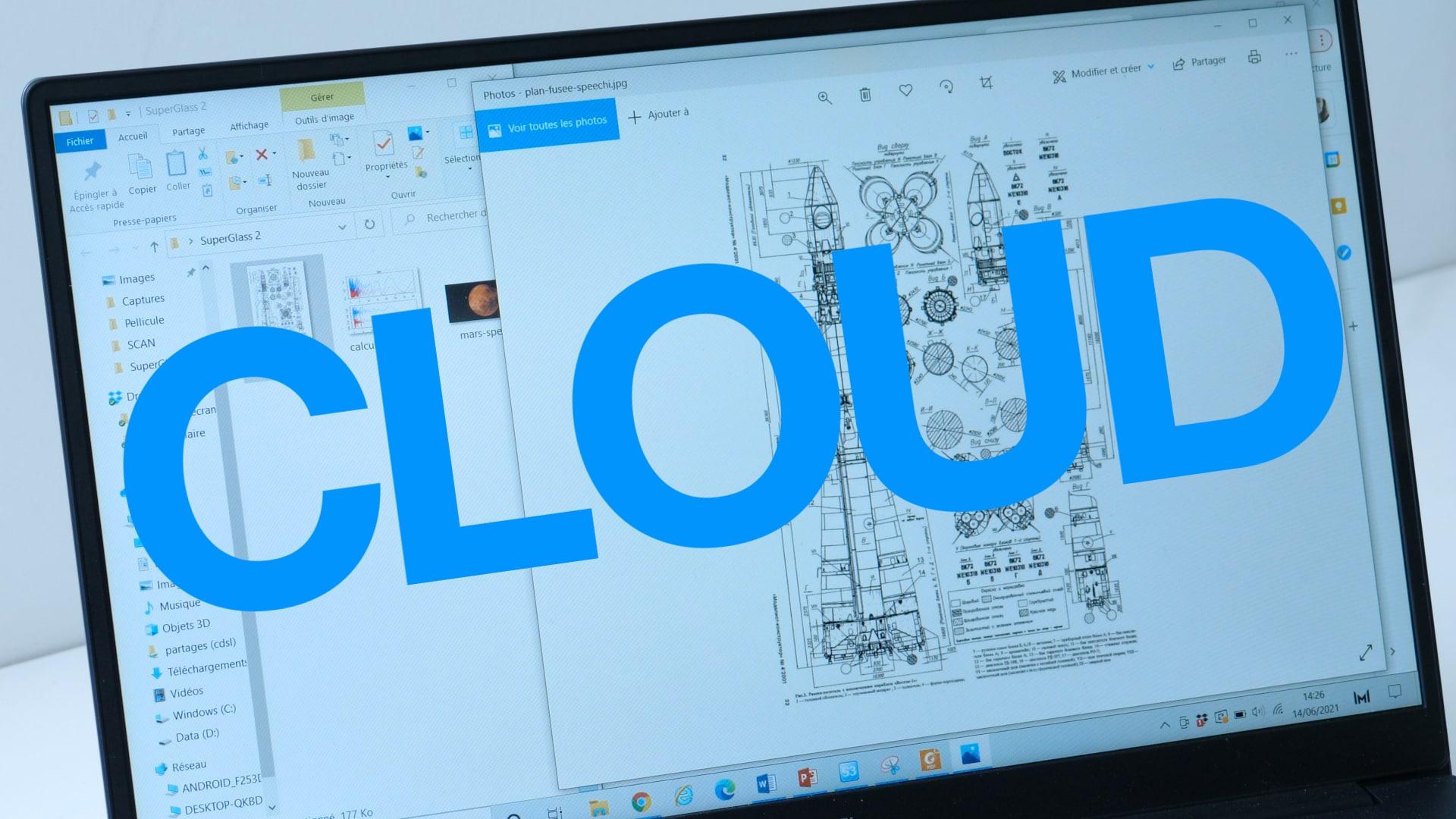 écran tactile avec accès cloud