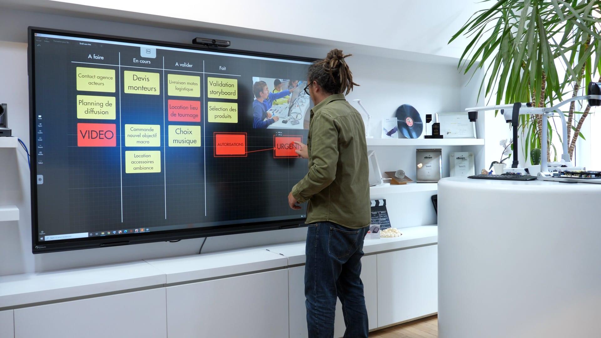 draft sur écran interactif projet directeur artistique