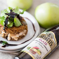 Southern Fried Green Tomato Recipe with Crab and Balsamic Reduction Sauce