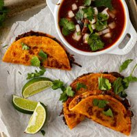 birra tacos with consomme