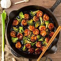 honey garlic shrimp with broccoli