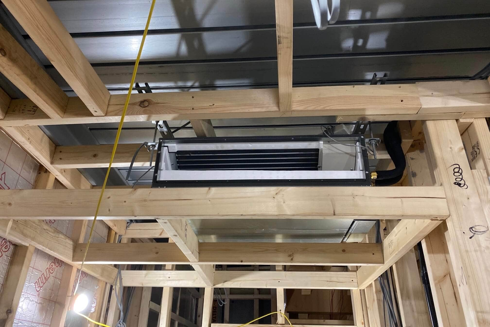 Chelsea developer property SubCool air con installation concealed unit general area building work