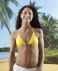 Woman with abs