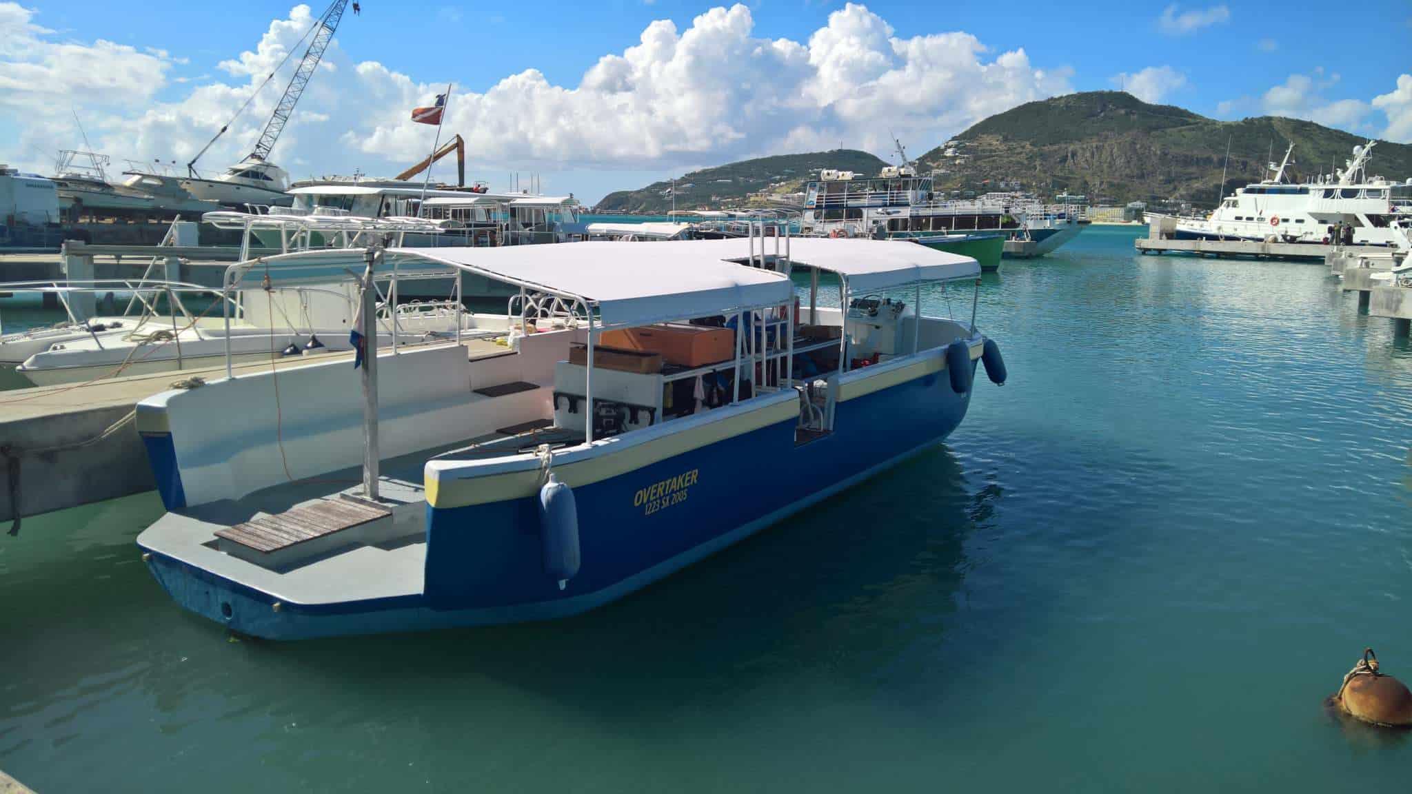 Our adorable boat; The Overtaker, SNUBA SXM, Sint Maarten