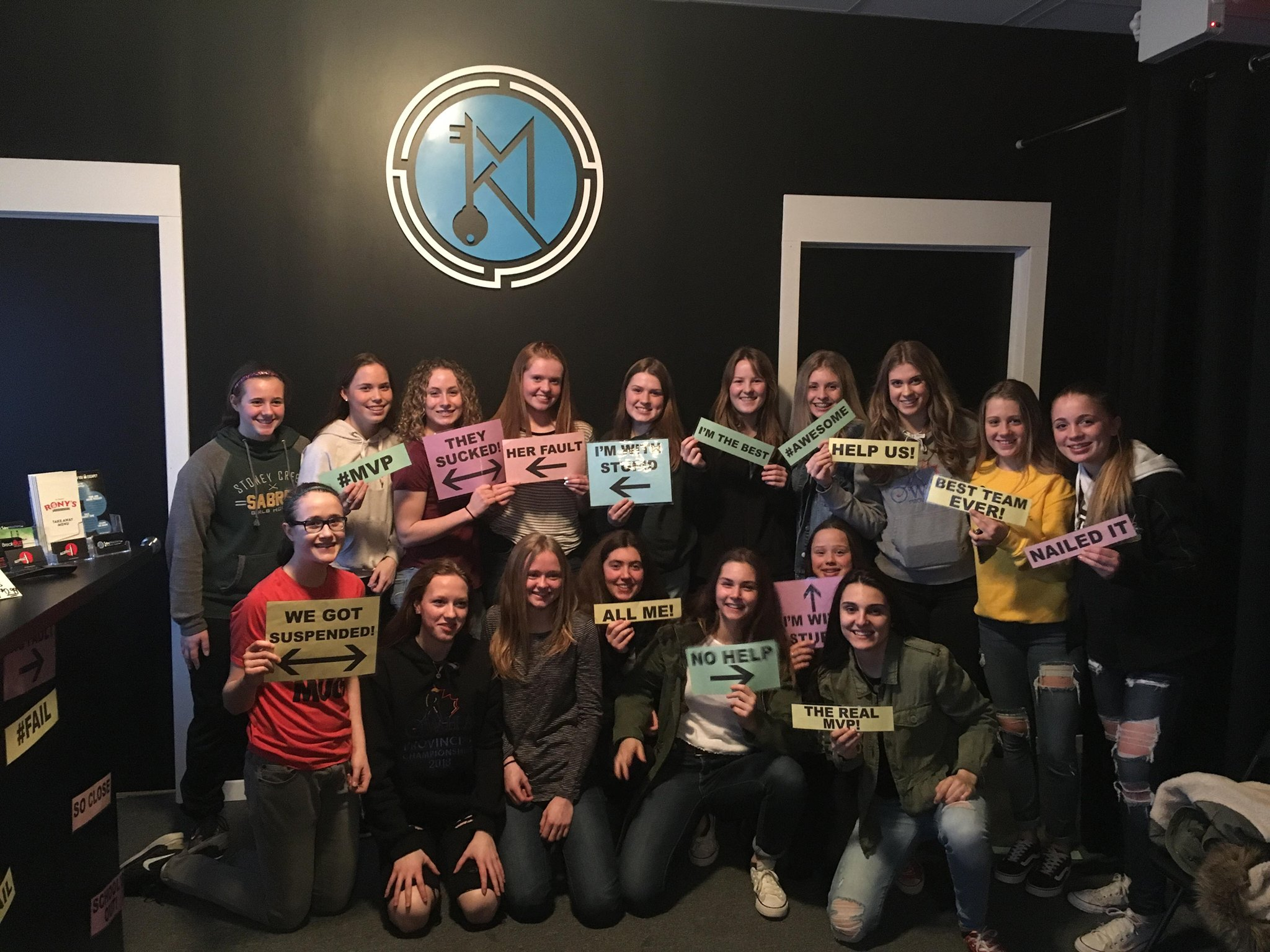 Group attending KeyMasters Escape Rooms in Hamilton