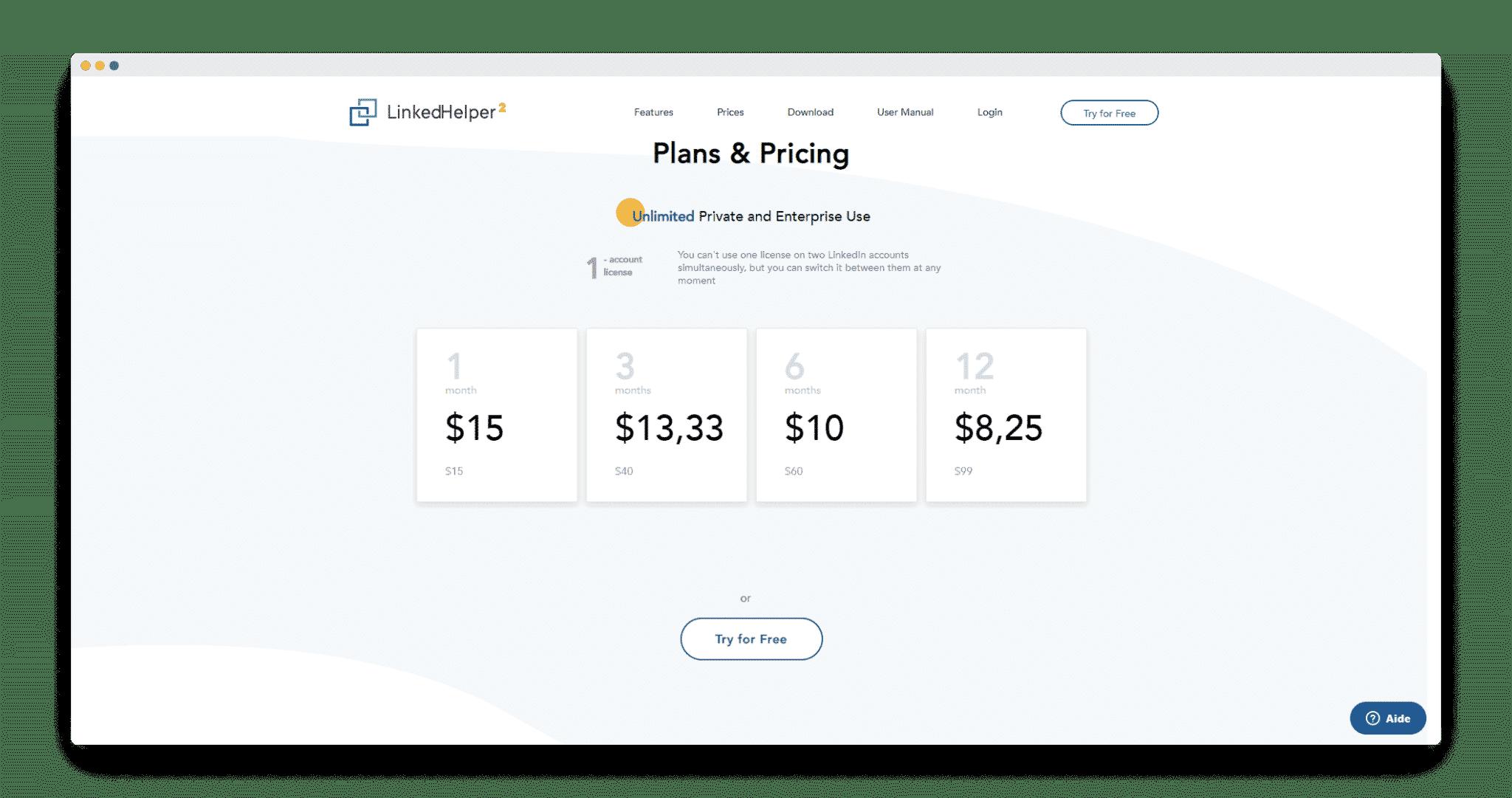 linked-helper-tarifs