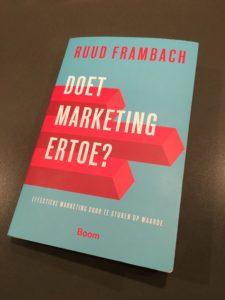 ruud frambach doet marketing ertoe