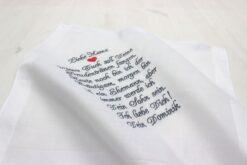 Besticktes Taschentuch für die Mutter des Bräutigams zur Hochzeit