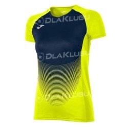 Koszulka siatkarska z krótkim rękawem damska JOMA Elite IV granatowo-żółta fluo