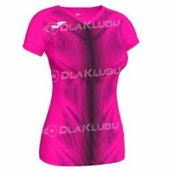 Koszulka biegowa damska JOMA Olimpia różowo czarna
