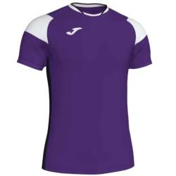 Koszulka piłkarska JOMA Crew III fioletowo biała