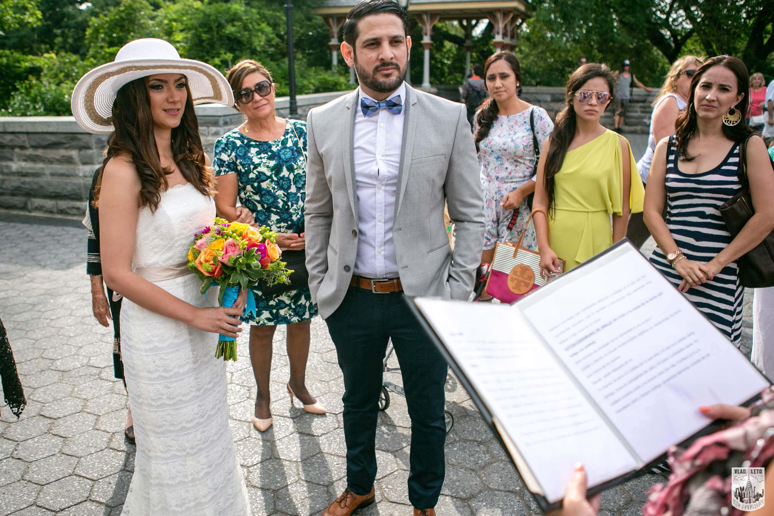the Belvedere Castle in Central Park wedding