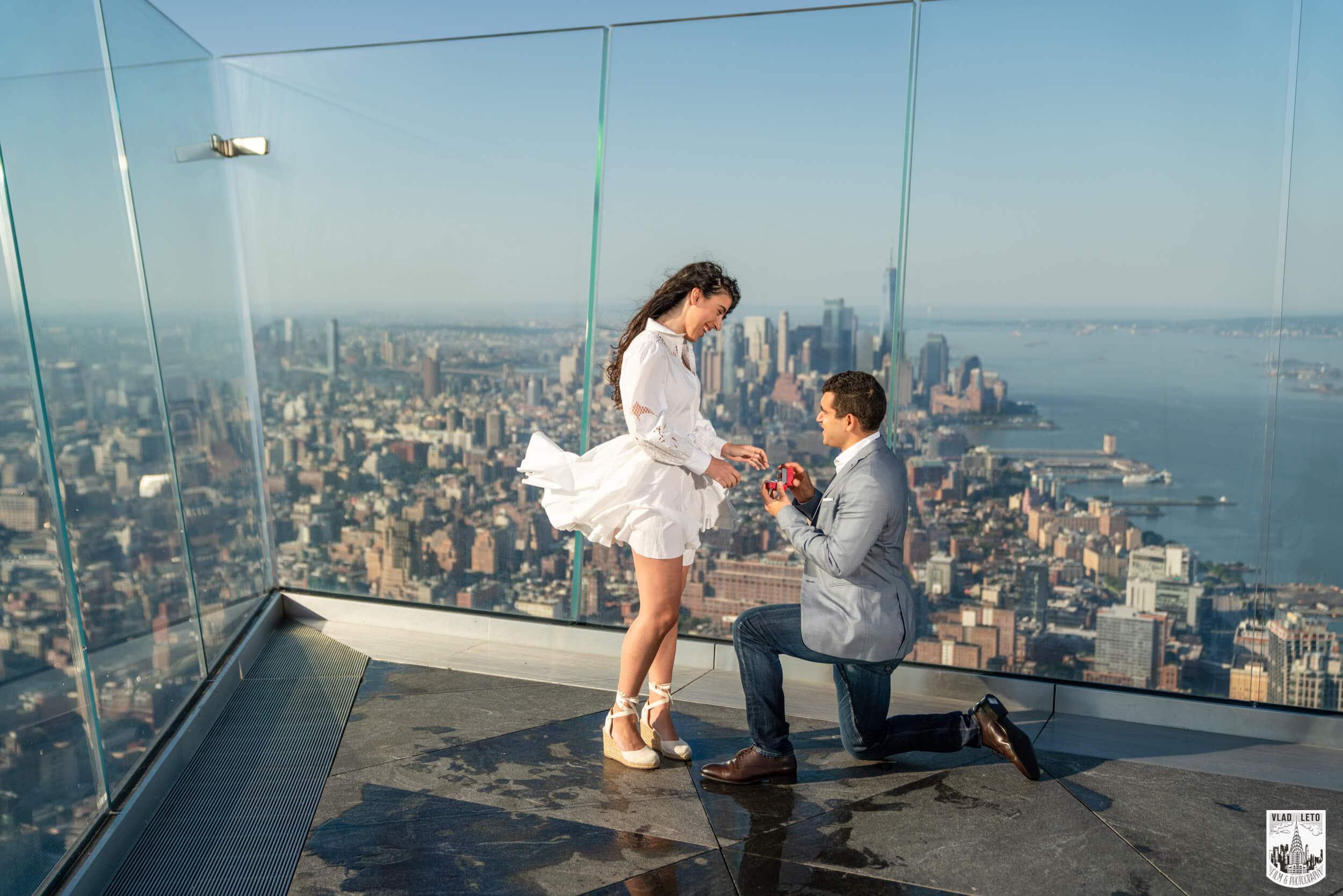 The Edge proposal photographer NYC
