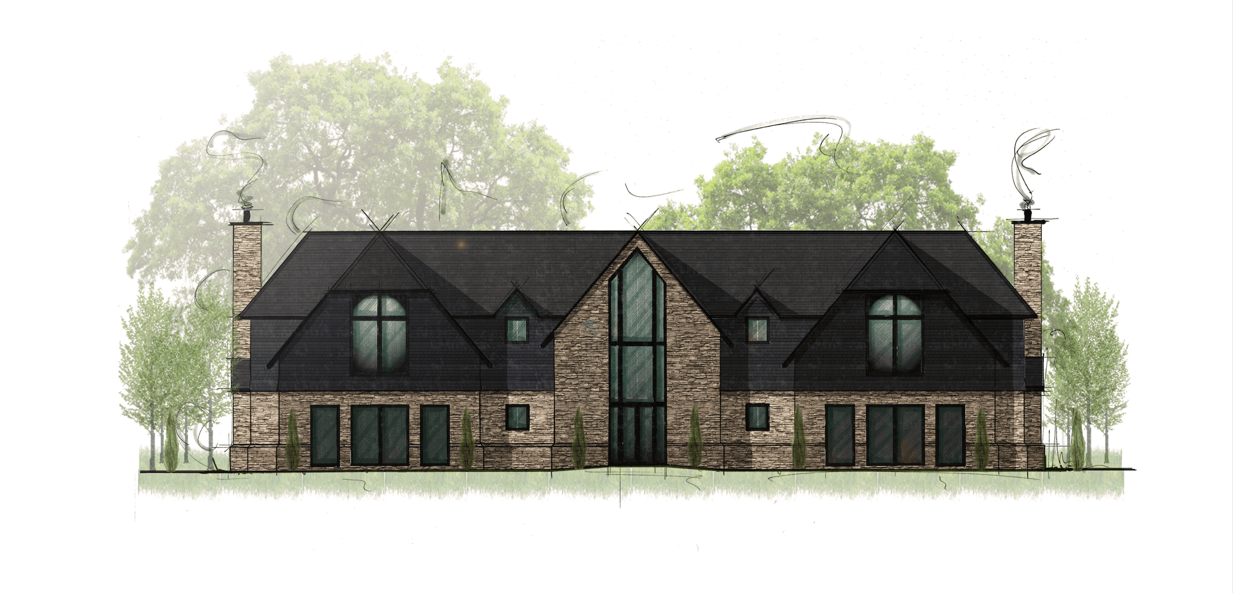 An artists impression of a new build home