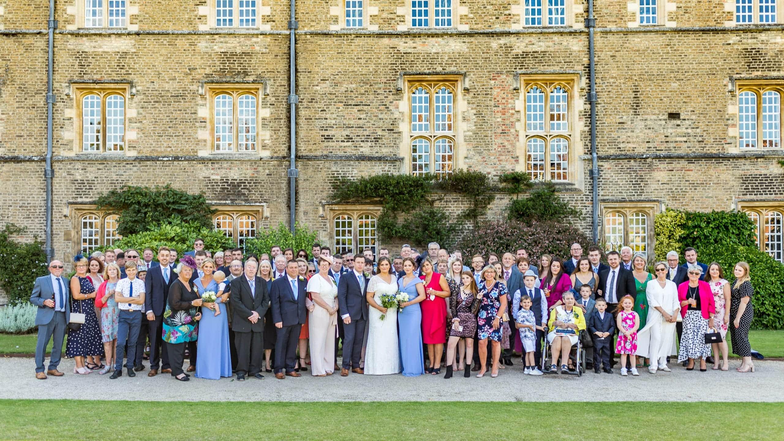 Jesus College Cambridge Wedding - group shot