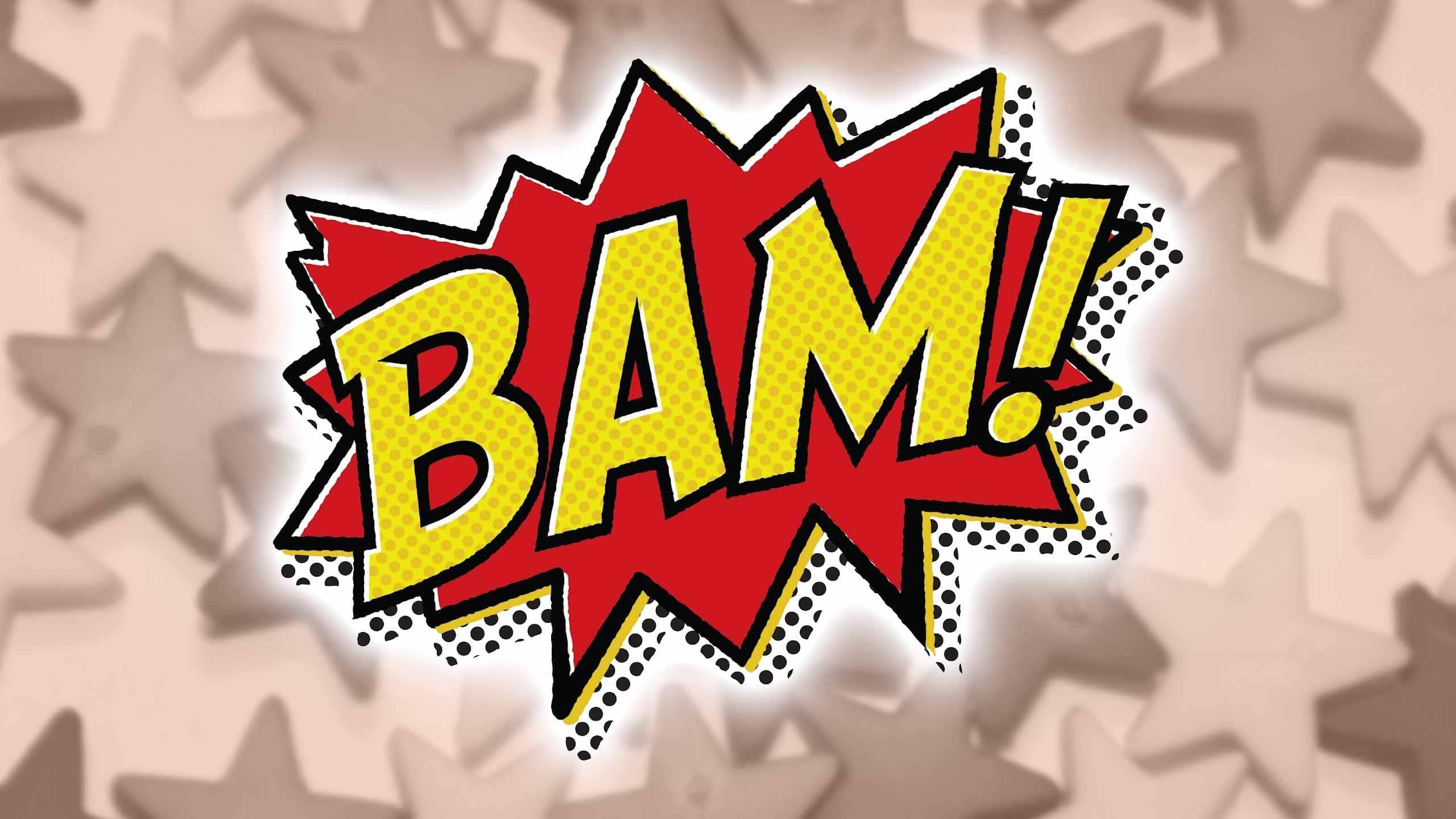 Cartoon BAM! graphic like those seen on the original 1960s Batman TV Series