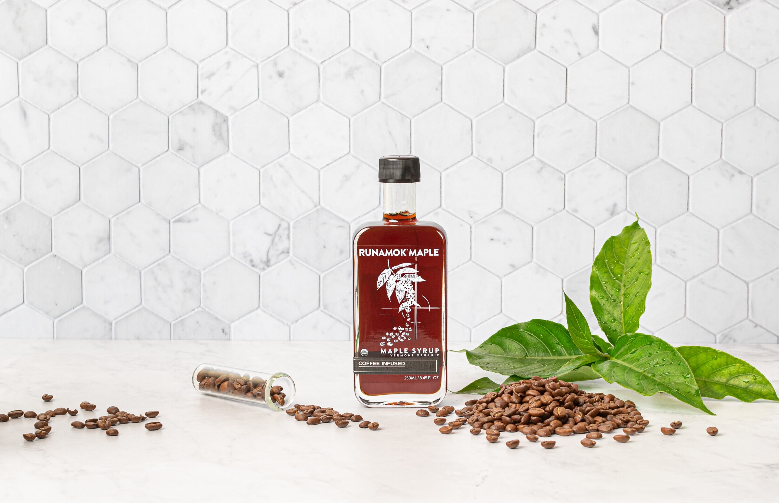 Coffee Infused Maple Syrup by Runamok