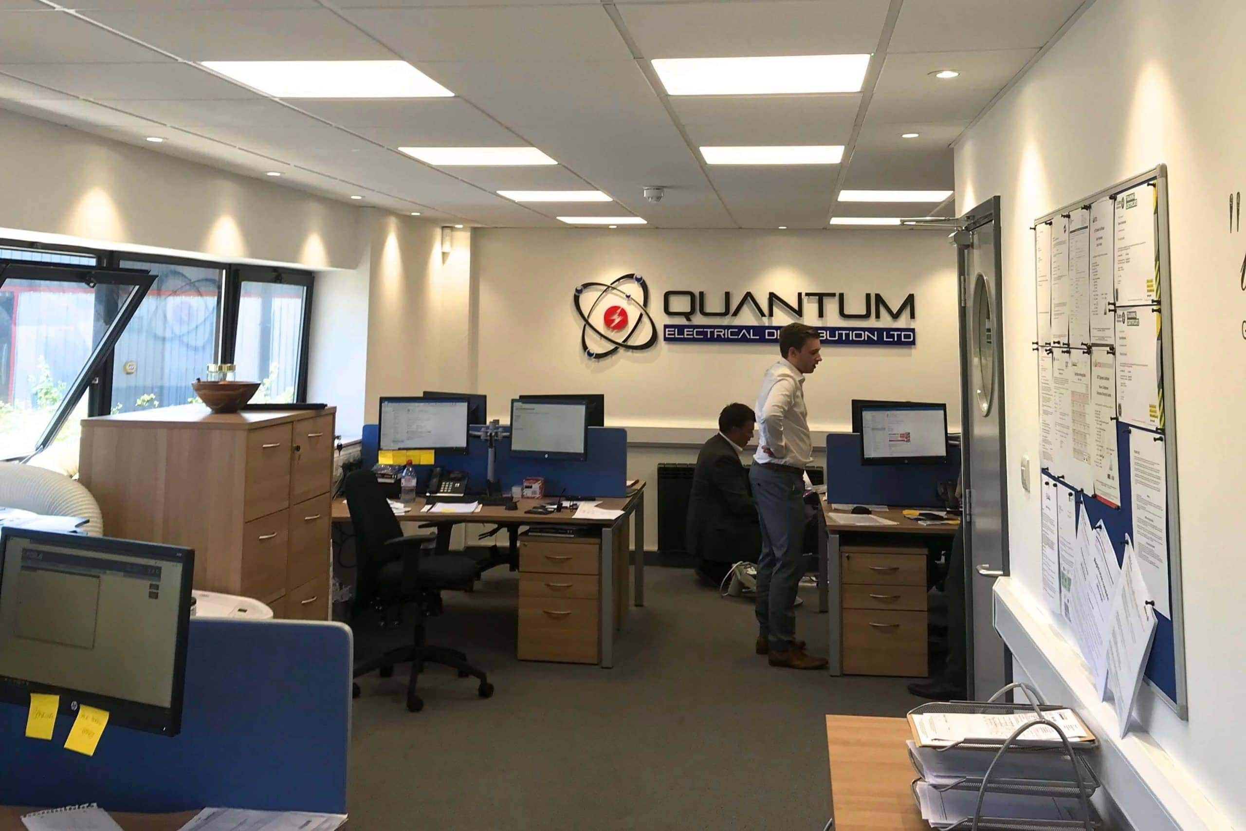 Commercial air conditioning in Quantum Chichester offices
