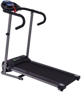 Goplus 1100W Folding Treadmill Electric Motorized Power Fitness Running Machine with Support