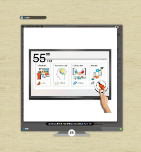 partage d'écran avec tamashare sur un écran interactif