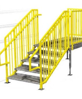 Loading Dock Access Stairs