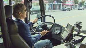 Driver driving bus