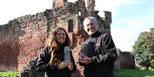 Drone Scotland founders Michele Aaen and Bjorn Aaen picking up business awards
