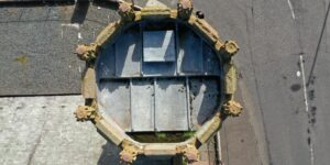 Aerial inspection of church