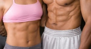 Female and Male Abs