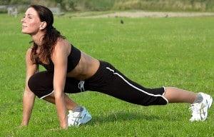 Woman Dynamic Stretching