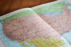 State Lines Map of US