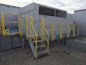 Outdoor Metal Stair Work Platform for HVAC Access