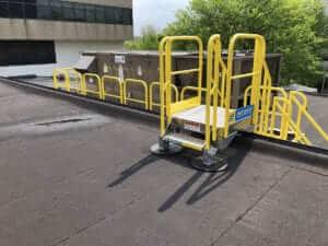 HVAC Metal Stair Installation