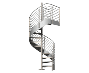 Architectural Spiral Metal Stairs