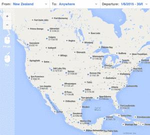 Skypicker World Map