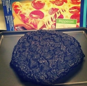 This person who forgot about his pizza
