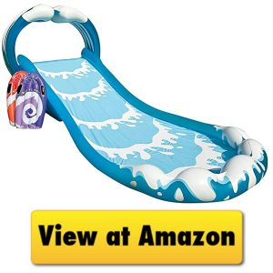 Toddler Inflatable Pool With Slide, Floats & Toys