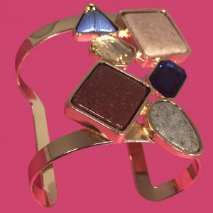 multistone cuff bracelet