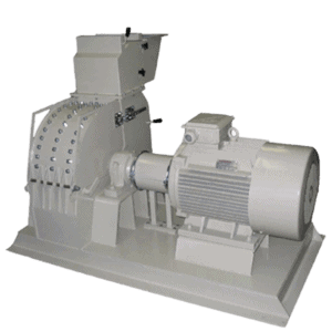 Scanhugger EU 3000 hammer mill for grinding shredded wood into into smaller particles