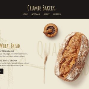 Bakery page - wordpress theme from Smart Slider 3 - nr 1
