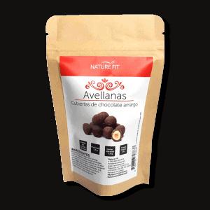 Avellanas cubiertas de chocolate amargo