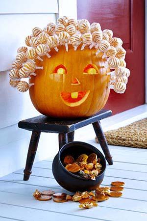 lollypop pumpkin carving ideas