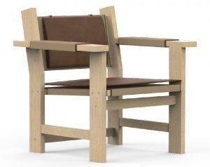 krzesło z obiciami skórzanymi